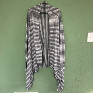 Athleta Striped Open Front Duster Cardigan Large